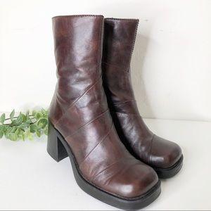 Aldo Vintage 90s Chunky Heel Platform Boots